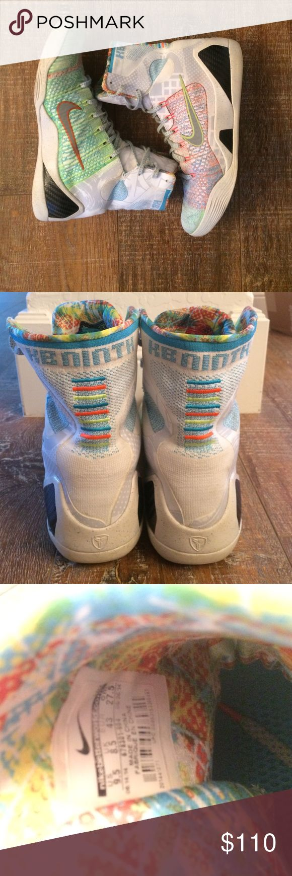 "Nike Kobe 9 ""What The"" High top basketball shoe, 8/10 condition, really comfortable, great grip. Nike Shoes Sneakers"