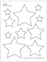 Stars shape for December Various-sized stars