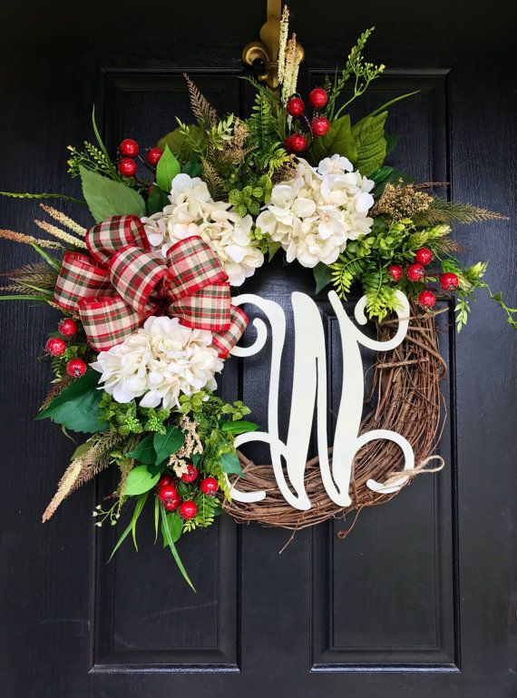 ON SALE NEW Christmas Wreaths for Front Door by FleursDeLaVie