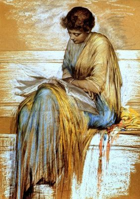 Women Reading - chukycifuentes: Albert Joseph Moore (1841-1893)....