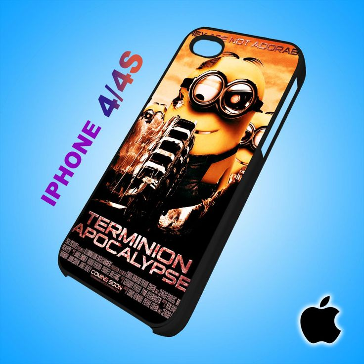 Despicable Me Minion Terminion Apocalypse iPhone 4/4S Case Durable Plastic
