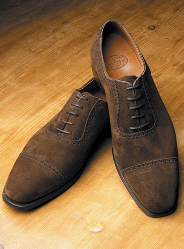 The Albany Oxford in Dark Brown Suede | Shoes man