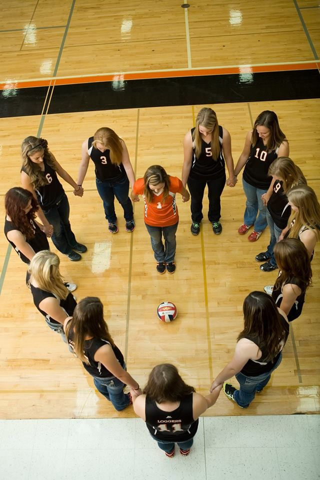 Would also be cute if there were volleyballs making a cross in the center and the girls were looking at the camera!