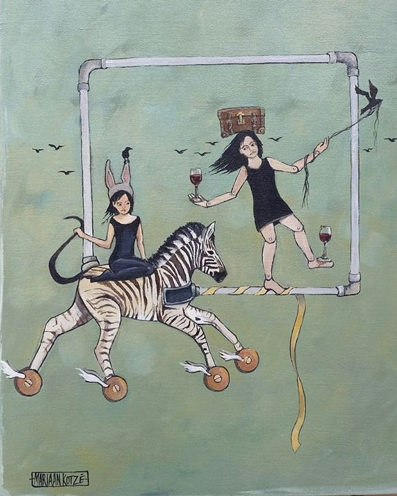 Mariaan Kotze Art. Decor. Gifts Acrylic on boxed canvas 35x45cm - available Put on your little black dress - invite your best friend - go out there and celebrate life!!! ...and remember... be a bit naughty! http://ift.tt/2ji5PJS