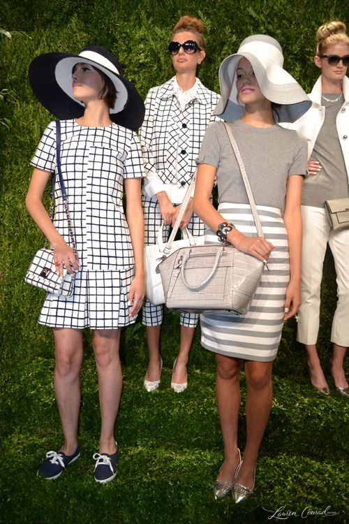 Gray and white at Kate Spade Spring 2014