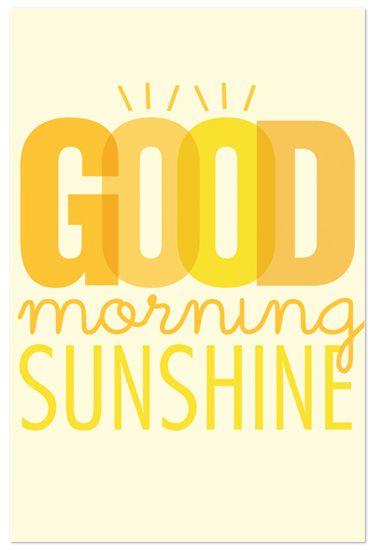 Good Morning Sunshine by Jennifer Long
