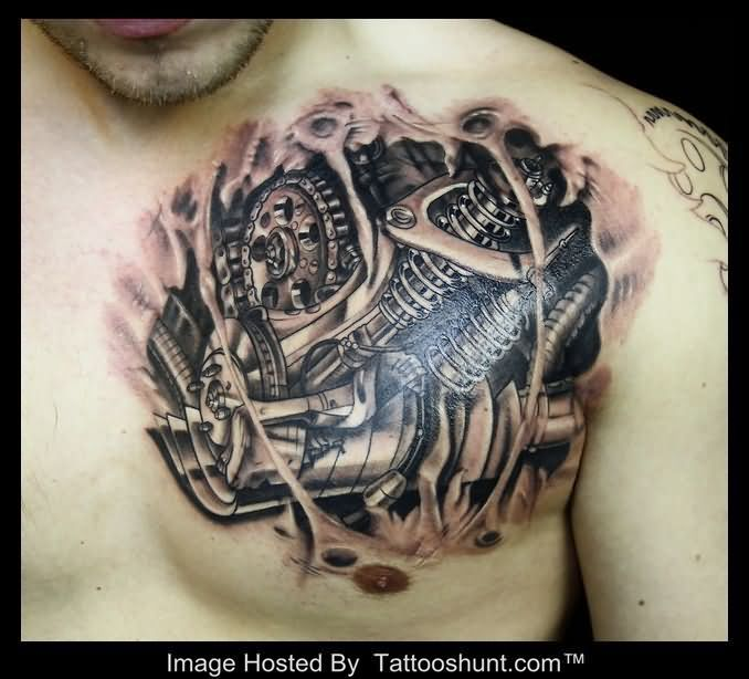 Biomechanical Heart Tattoo Pictures: 39 Best 3d Heart Tattoos Images On Pinterest