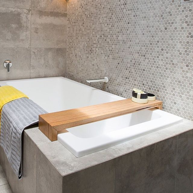 This stylish wooden bath caddy is a sure-fire way to turn up the luxury in your bathroom. Both @steveandholly and @lisaandjohn have used one in their bathrooms and we think they look fabulous! Get your very own (on SALE!) for $250 by searching 'bath caddy' at www.theblockshop.com.au #theblockshop #9renorumble #bathroom