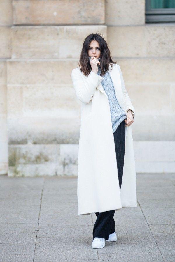 Белое пальто: потрясающая элегантность в любых сочетаниях 9