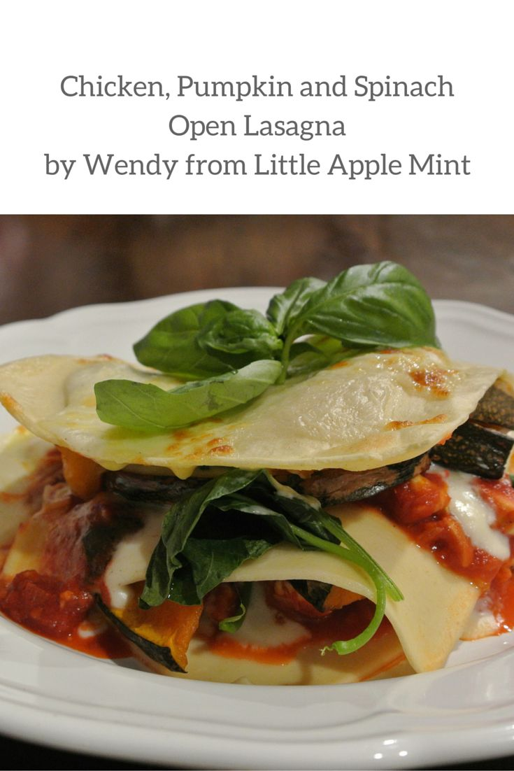 A modern twist on one of the classics, this Chicken, Pumpkin and Spinach open lasagna is delicious. Angelo's Pasta Feature Foodie Wendy from Little Apple Mint created this sensational meal. Feed the family a healthy and nutritious dinner. It will warrant rave reviews!