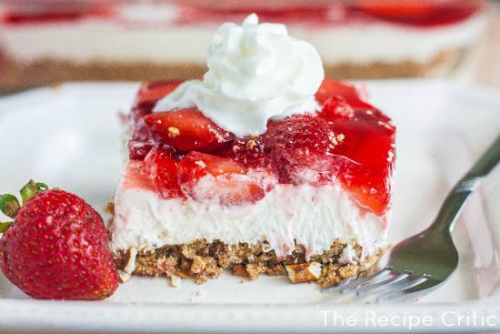 Strawberry Pretzel Salad | Recipe | Pretzel desserts, My step mom and ...