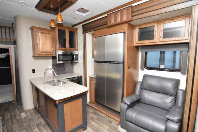2015 New Keystone RAPTOR 405 Toy Hauler in California CA.Recreational Vehicle, rv, Check out this 2015 Keystone Raptor 405 5th Wheel Toy Hauler. This is a Great Floor Plan for the Desert or the Beach. Raptor combines Hard Core Toy Hauler with Refined Accommodations. This Toy Hauler is Equipped with 6 Way Hydraulic Auto Leveling, Frameless Windows, 3 Electric Awnings with LED Lights, a Ramp Door Patio and Huge Storage Bays. Inside the Living Space comes with Stadium Style Seating, Flat Screen…
