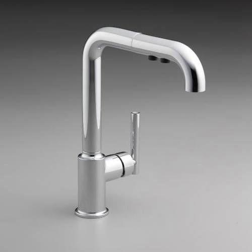 Kohler K 7505 Purist Single Handle Pullout Kitchen Faucet Faucets Kitchen Faucets And Alternative