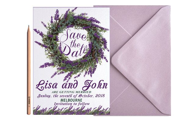 Hey, I found this really awesome Etsy listing at https://www.etsy.com/listing/459178750/lavender-wedding-save-the-date-floral