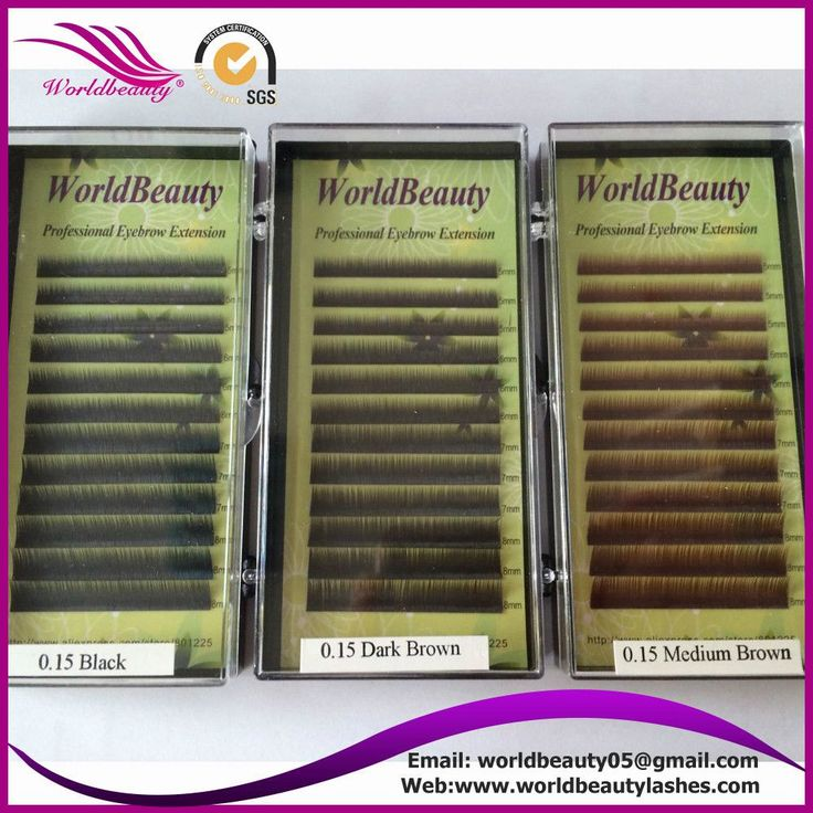 World Beauty - 10 pack Eyebrow extension + glue ring