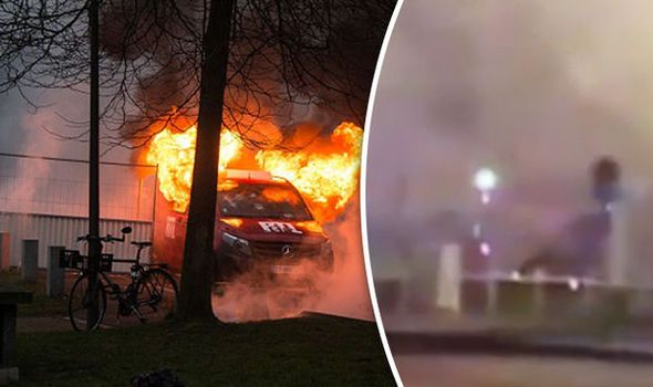"""Rioters chant """"Allahu Akbar"""" while setting cars on fire In Paris."""