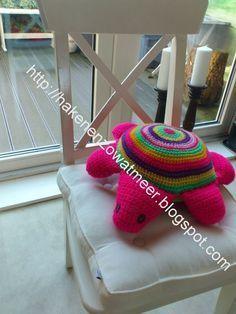 tinekeshaakpatronen: Haakpatroon, schildpad, Nederlands, knuffelkussen, decoratie, #haakpatroon