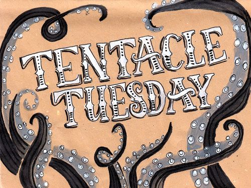 Illustrative Lettering: Tentacle Tuesday