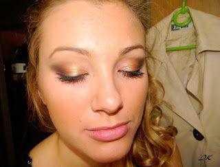 evening golden brown makeup