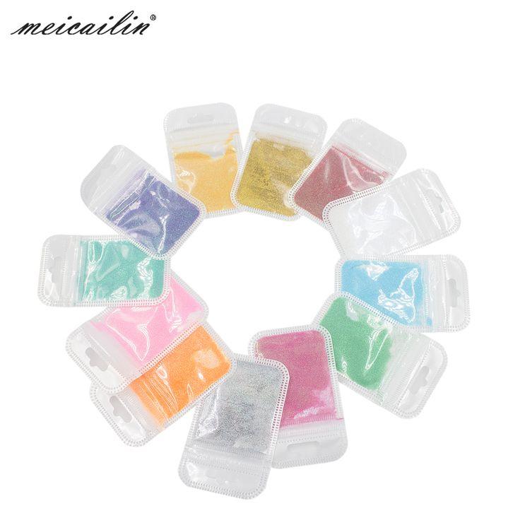 2016 Brand New 12 Colors Mermaid Effect Nail Glitter Nail Art Tip Decoration Magic Glimmer Powder Dust Nails Art Tools Cosmetics [Affiliate]