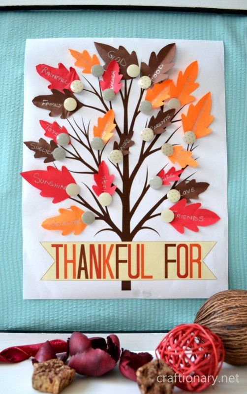 thankful tree printable for bulletin board