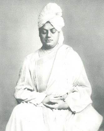 Swami Vivekananda meditating in London, in 1896.