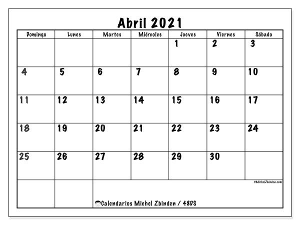 Calendario Abril 2021 (48Ds) – Michel Zbinden Es | Qualads in 2020