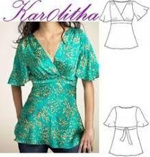 Resultado de imagen para patrones de blusas modernas 2014