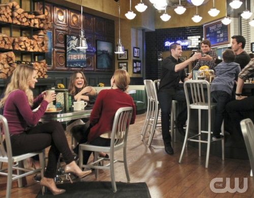 """One Tree Hill"" - Pictured (l-r): Shantel VanSanten as Quinn, Sophia Bush as Brooke, Bethany Joy Galeotti as Haley, James Lafferty as Nathan, Austin Nichols as Julian, and Stephen Colletti as Chase in ONE TREE HILL on THE CW. Photo: Fred Norris/The CW ©2012 The CW Network. All Rights Reserved."