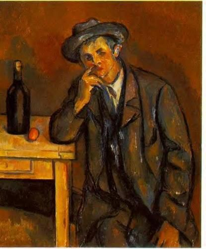 Paul Cézanne ~ The Drinker, 1891