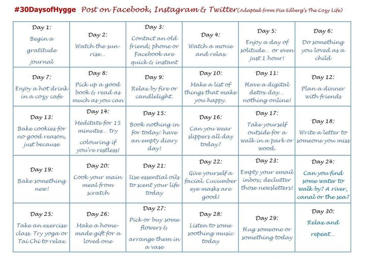 30 Days of Hygge Challenge