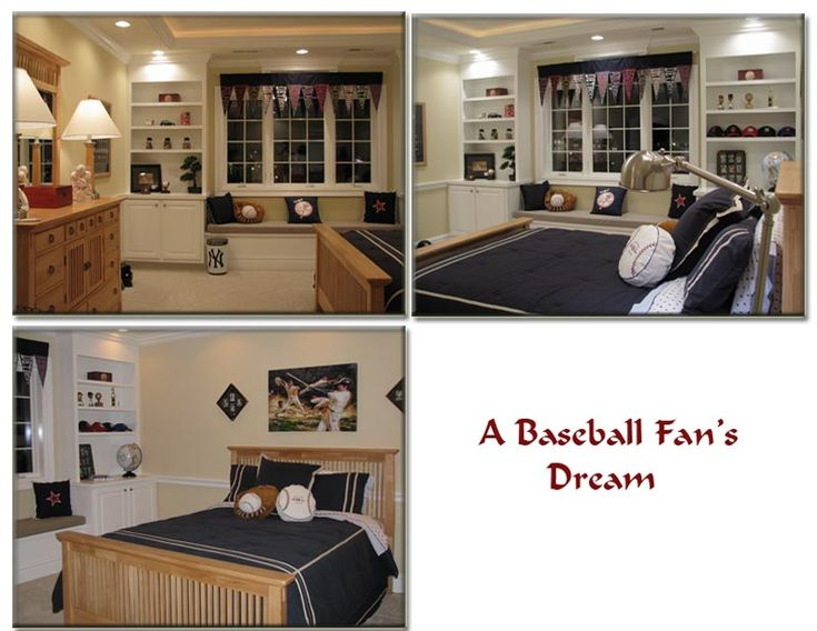 Baseball room70 best Baseball Bedroom images on Pinterest   4th birthday  . Baseball Bedroom. Home Design Ideas