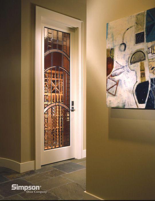 Custom Glass Wine Cellar Door