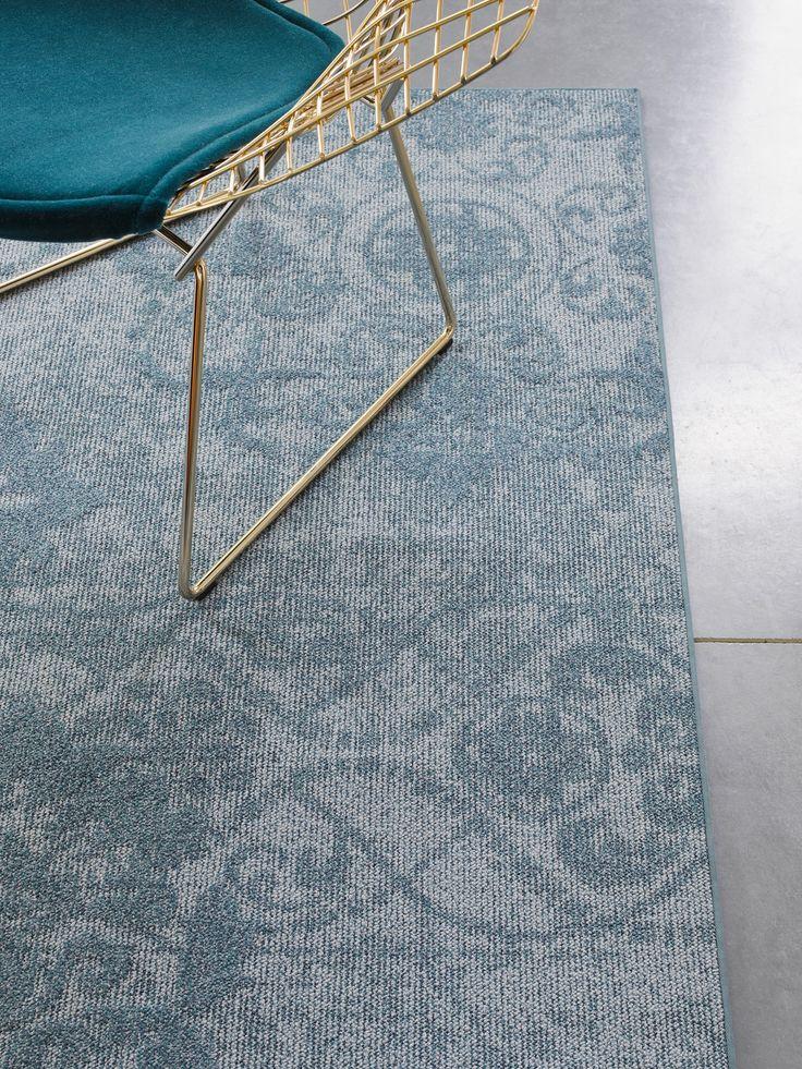 Mix & Match met de Desso tapijtencollectie Patterns & Shades: #blauwe #tapijten met een mooi #patroon