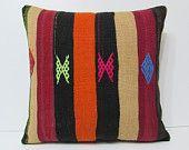 large throw pillow 24x24 large kilim rug large outdoor pillow 60x60 24x24 pillow cover giant pillow cover red orange kilim pillow sham 17704