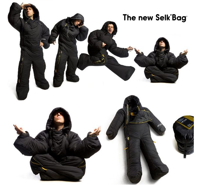 sleeping bag....allows free movement both in and out of sleep. That makes sense!!