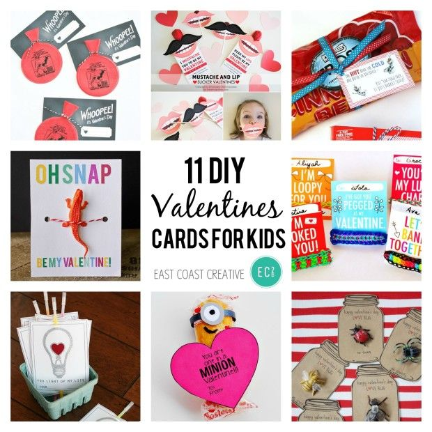 25 best ideas about Diy valentines cards – Homemade Kids Valentine Cards