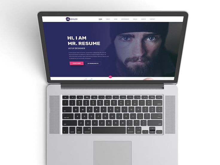 Free Clean Resume Website Template Free Resume Templates Pinterest - resume website template