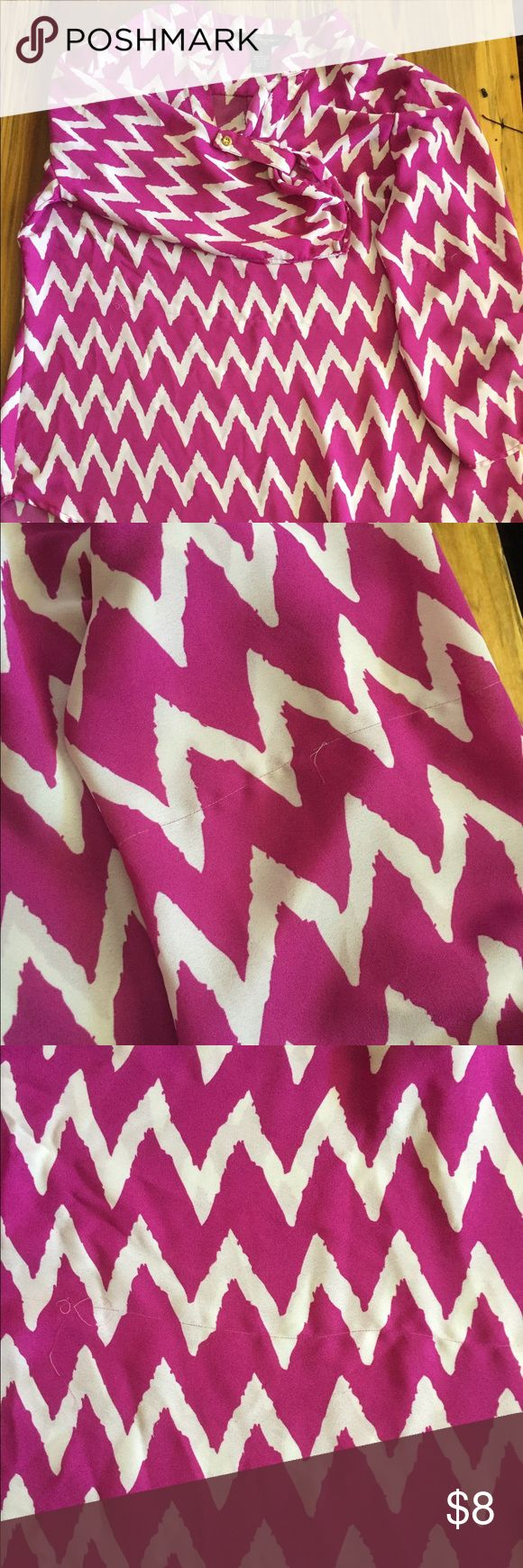 Chevron Top Flowing Chevron Top. Size L. Could be used as a coverup or a shirt. There are two pictures of damage that the shirt has. Tops Blouses