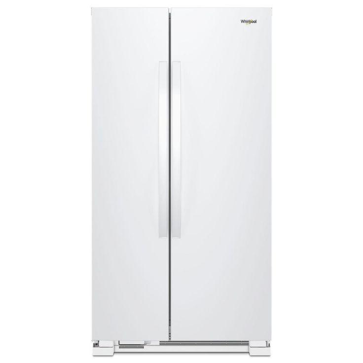 Whirlpool 36 in. W 25.07 cu. ft. Side by Side Refrigerator in White-WRS315SNHW - The Home Depot