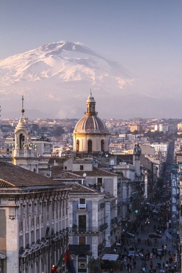 Catania and Mount Etna by Antonio Violi
