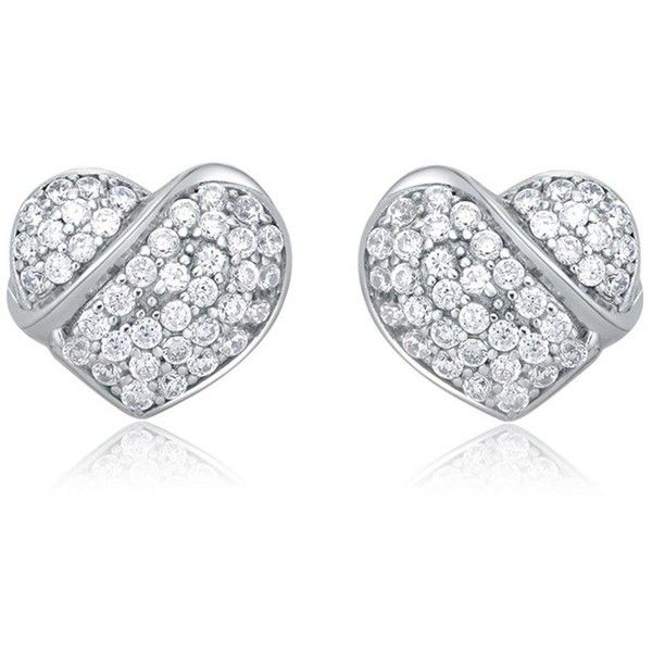 Party Heart-Shaped Earrings ($31) ❤ liked on Polyvore featuring jewelry, earrings, accessories, brinco, heart jewelry, party jewelry, heart earrings, earring jewelry and heart jewellery