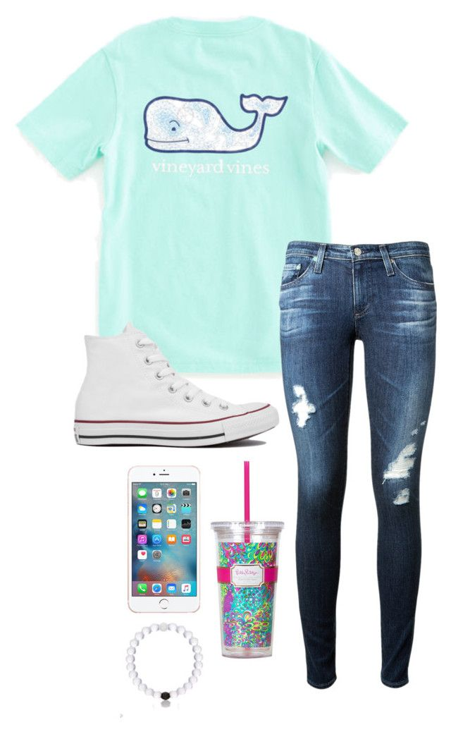 """Yesterday was 6 months till 5sos!"" by toonceyb ❤ liked on Polyvore featuring Vineyard Vines, AG Adriano Goldschmied, Converse and Lilly Pulitzer"