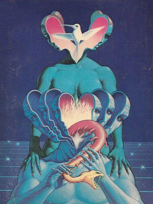 ⎃: Scifi Art, Paul Lehr, Psychedelic Art, Illustration, Graphics, Sci Fi, Trippy, 80S Art, Animal
