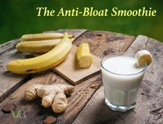 """THE """"EXCESSIVE GAS AND BLOATING"""" SMOOTHIE - """"Ginger also contains zingibain, a protein digestive enzyme, which is particularly effective at reducing bloating and gas caused by protein rich foods."""" Get Recipe: https://www.vegetarianbodybuilding.com/excessive-gas-and-bloating-smoothie/"""