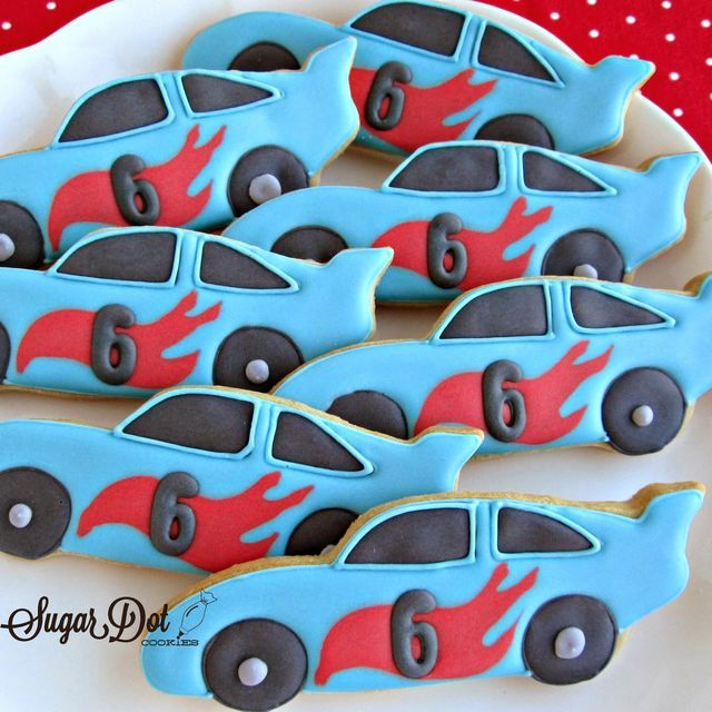 Race Car Cookies | Sugar Dot Cookies | Bloglovin'