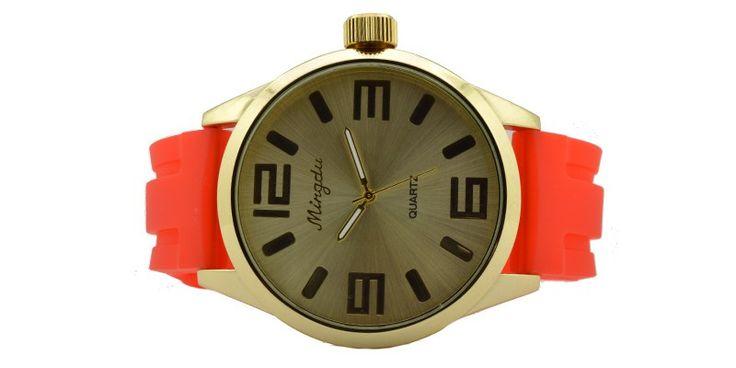 Γυναικείο ρολόι με κόκκινο λουρί 0011