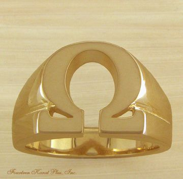 omega psi phi images | kp26 omega psi phi 14k ring that uses the greek letter omega as the ...