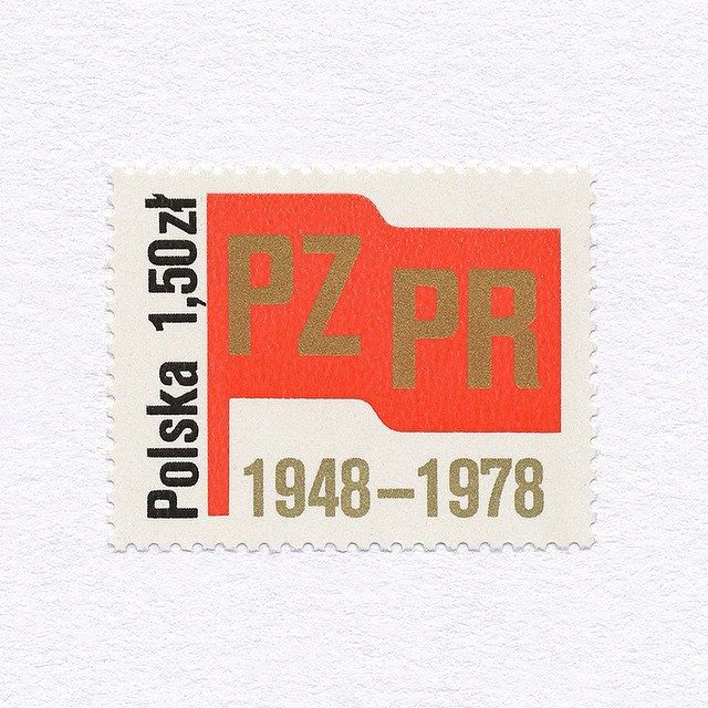 30th PZPR Anniversary (1,50zł). Poland, 1978. Design: Unknown. #mnh #graphilately