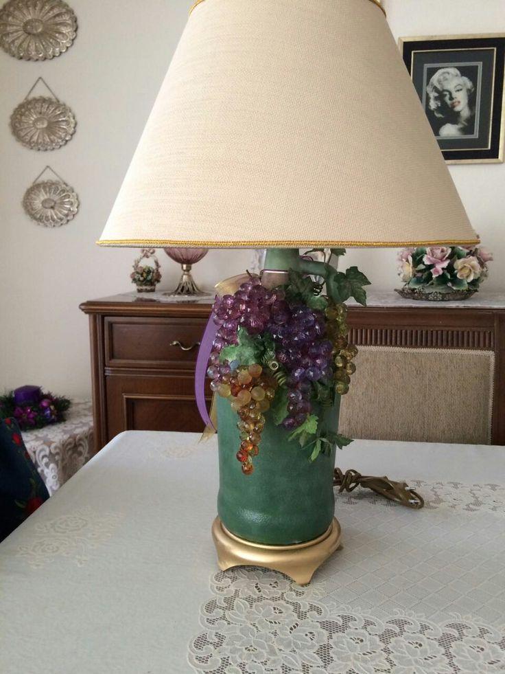 Abajur #cam#dekoratif boyama #Handmade..